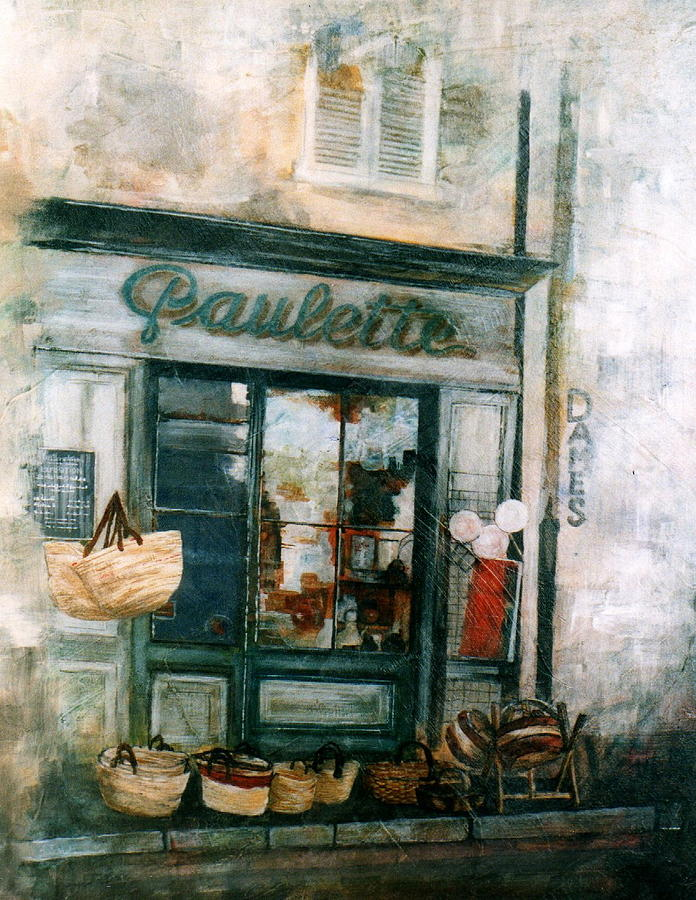 France Painting - Paulette by Victoria Heryet