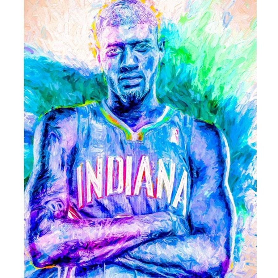 Indianapolis Photograph - #paulgeorge #indianapacers #pacers by David Haskett II