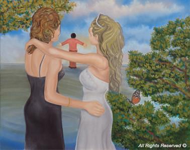 Princess Painting - Pauline And Paula by Armando Bettencourt