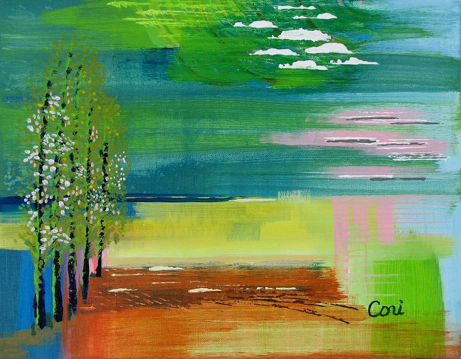 Zen Painting - Pause by Corinne Carroll