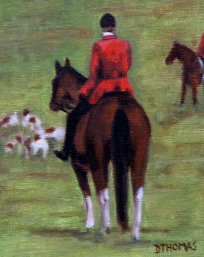 Horse Painting - Pause by Donna Thomas