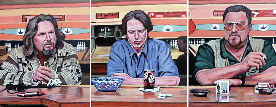 The Big Lebowski Painting - Pause For Reflection by Tom Roderick