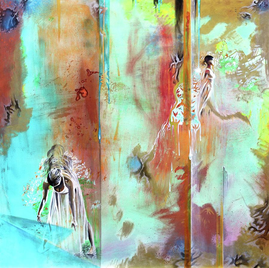 Dancers Painting - Pause in the Reconstruction of Doubt  by Darren Mulvenna