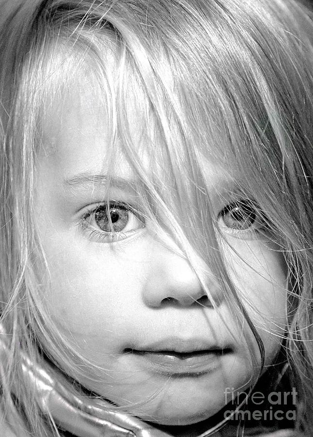 Child Photograph - Paused by Lynn Herrick