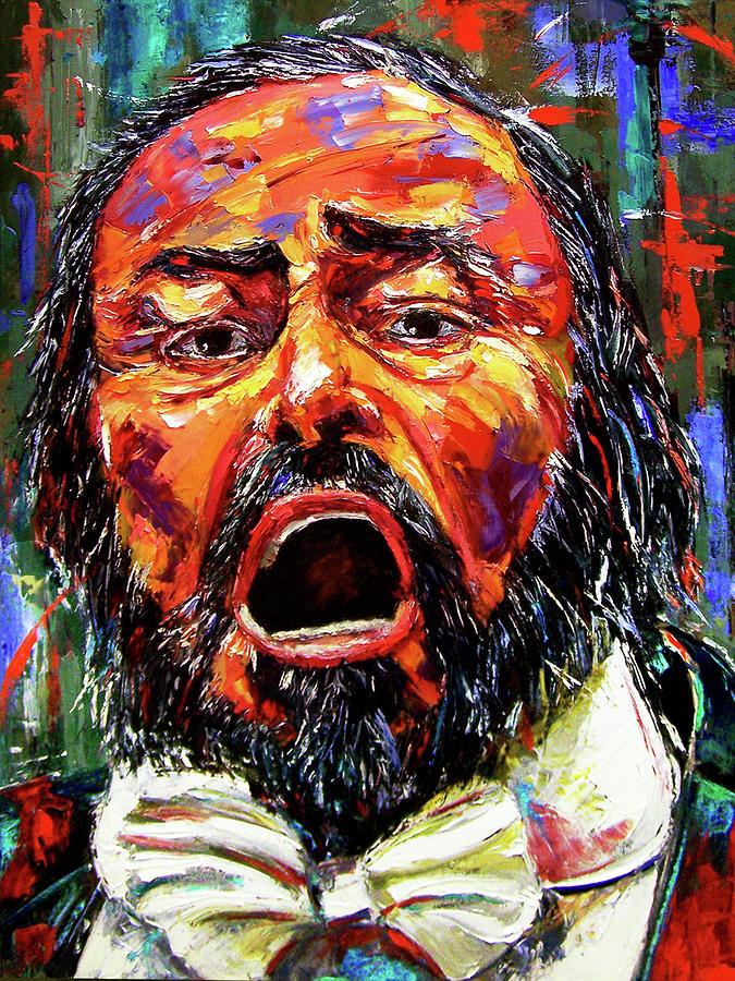 Pavarotti Painting - Pavarotti by Debra Hurd