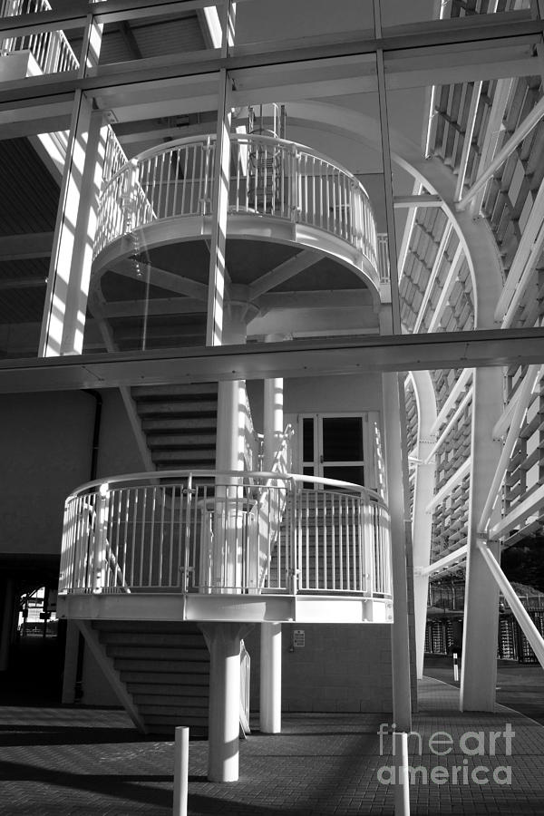 Ageas Bowl Photograph - Pavilion Stairs At The Ageas Rose Bowl by Terri Waters