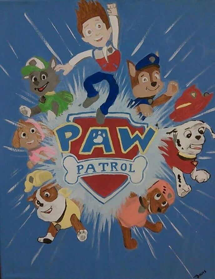 Paw Patrol Painting by Terra Mims