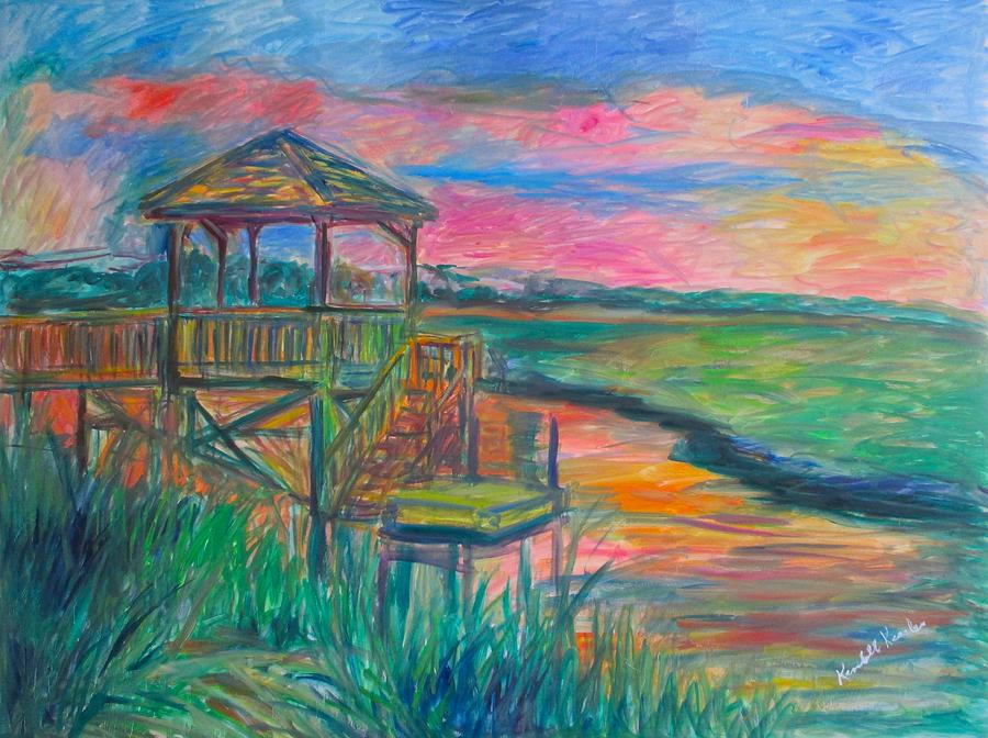 Landscape Painting - Pawleys Island Atmosphere Stage One by Kendall Kessler