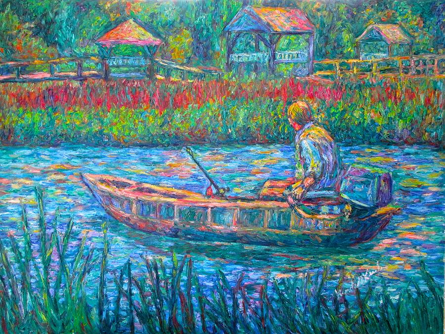 Fisherman Painting - Pawleys Island Fisherman by Kendall Kessler