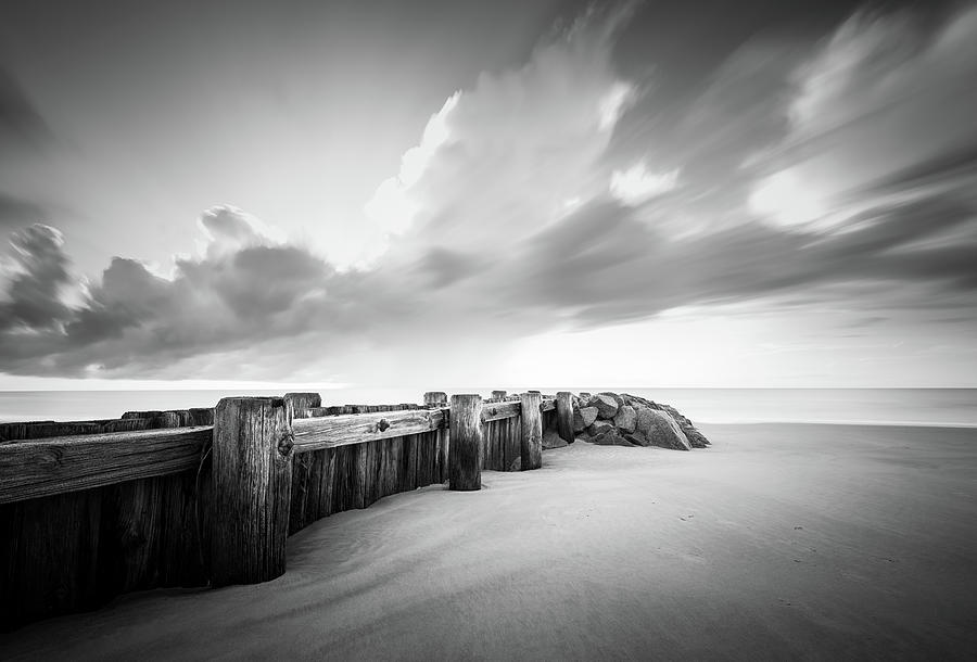 Pawleys Island Groin Sunrise BW by Ivo Kerssemakers