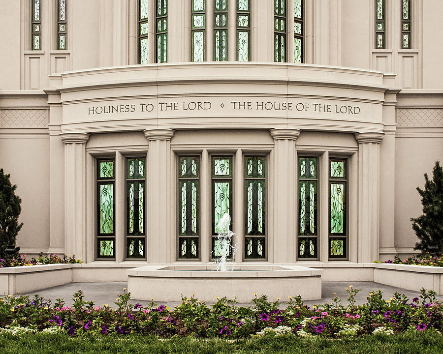 Payson Photograph - Payson Temple - House of the Lord by Brent Borup