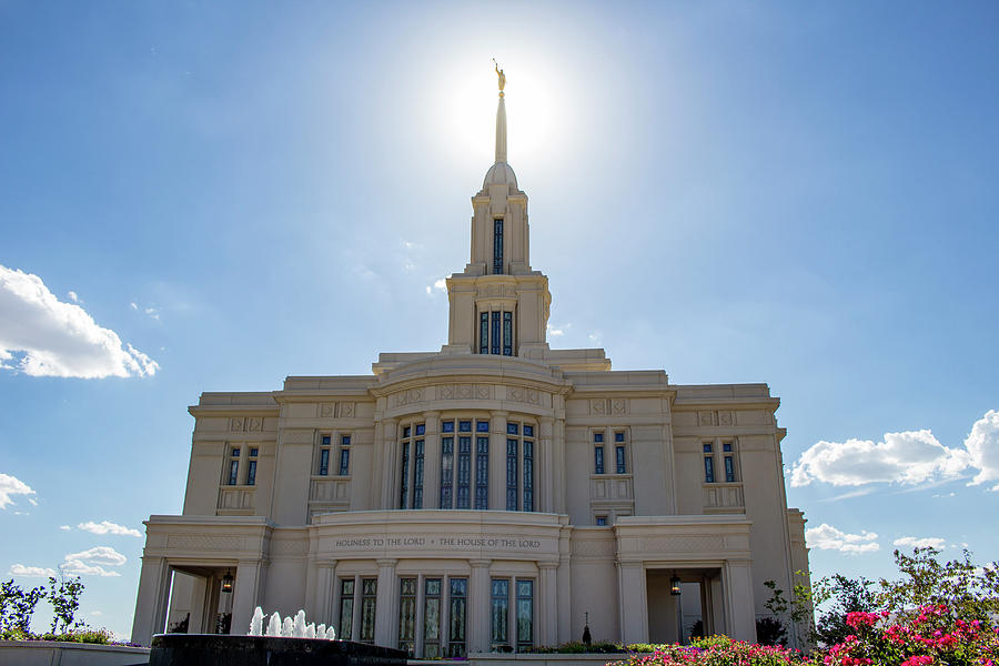 Payson Temple In July Photograph