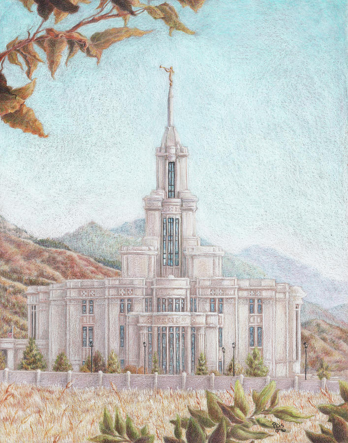 Payson UT LDS  Temple by Pris Hardy