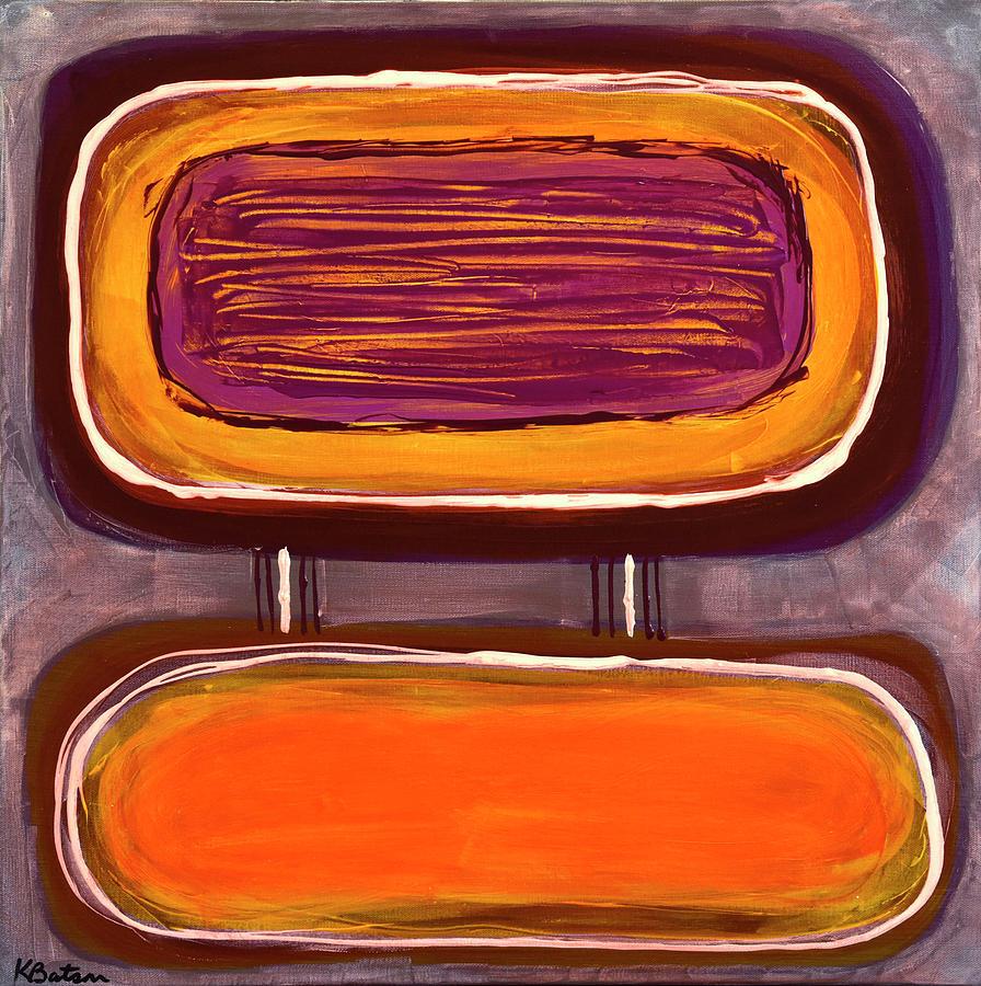 Canvas Print Painting - Pb And J I by K Batson Art