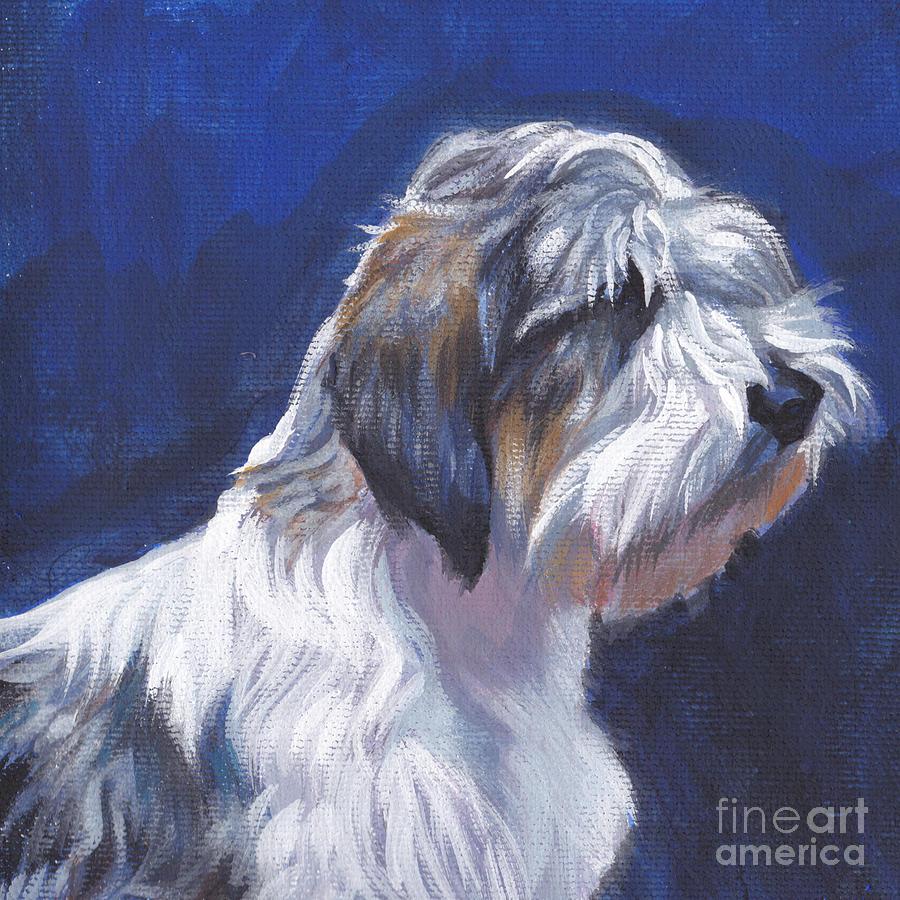 Dog Painting - pbgv Petit Basset Griffon Vendeen by Lee Ann Shepard
