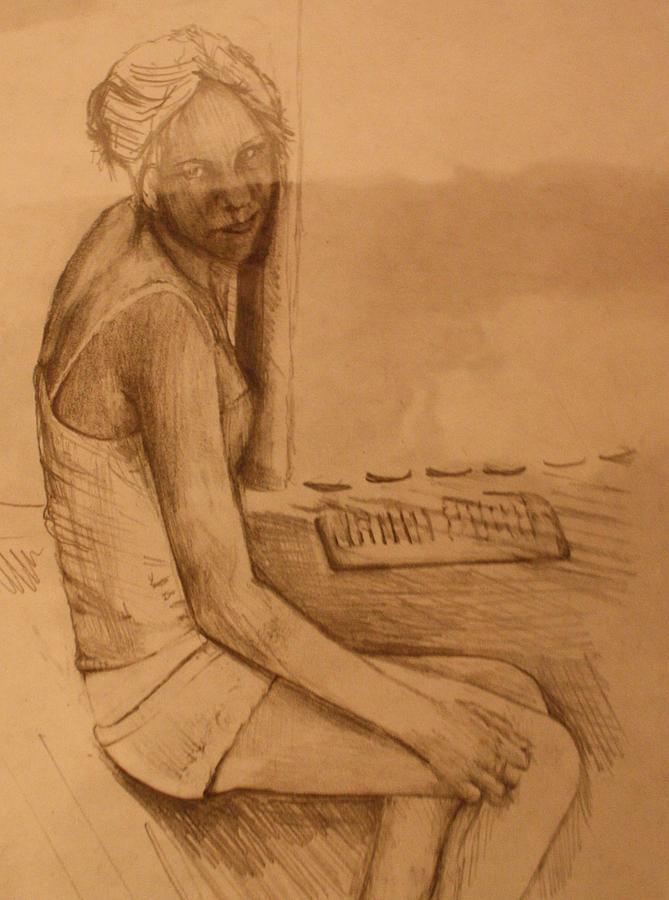 Portrait Drawing - Pd5-10 by Shannon Rains