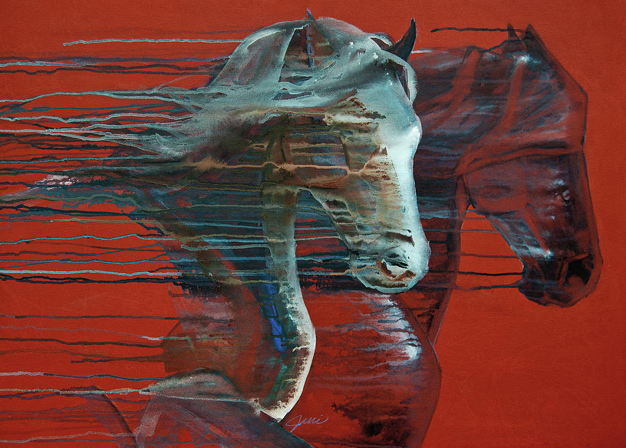 Horse Art Painting - Peace And Justice by Jani Freimann