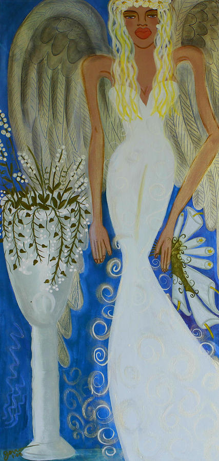 Angel Artwork Painting - Peace And Love Angel by Helen Gerro