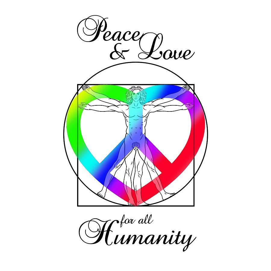 Peace And Love For All Humanity Digital Art By Az Jackson