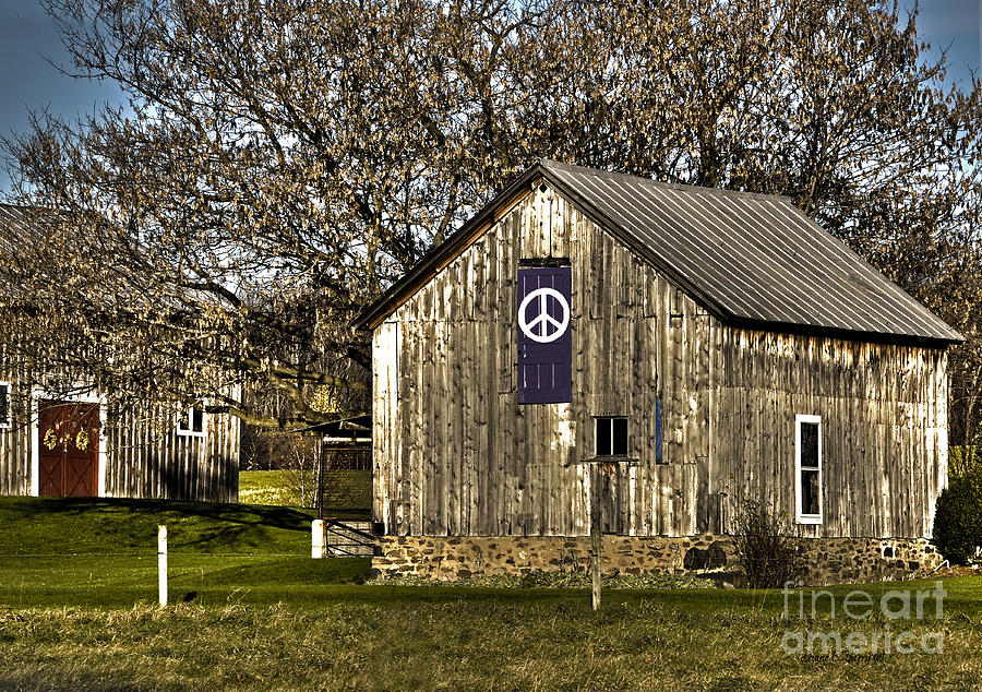 Diane Berry Photograph - Peace Barn by Diane E Berry