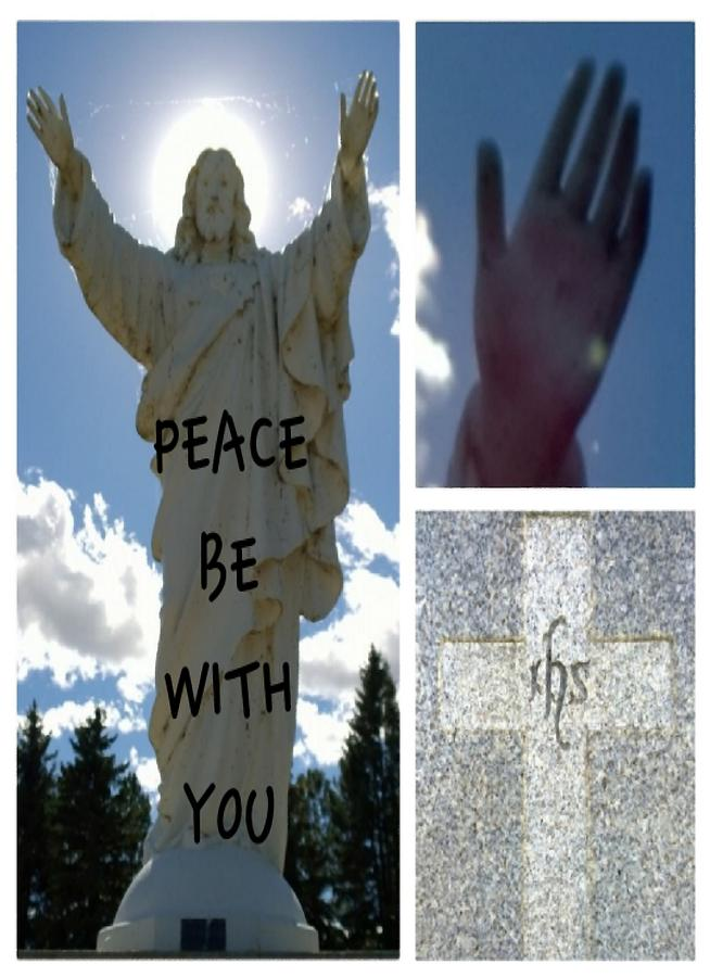 Peace Photograph - Peace be with You card by Delynn by Delynn Addams