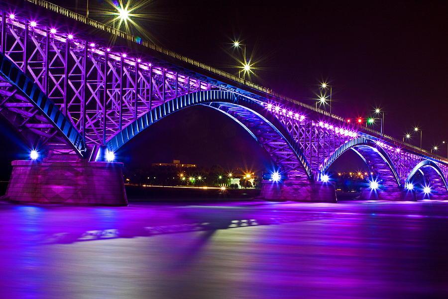 Peace Bridge Led Photograph By Don Nieman