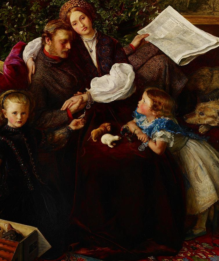 Family Painting - Peace Concluded by Sir John Everett Millais