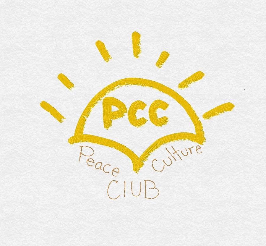 Pcc Painting - Peace Culture Club Logo by Joshua Stepney