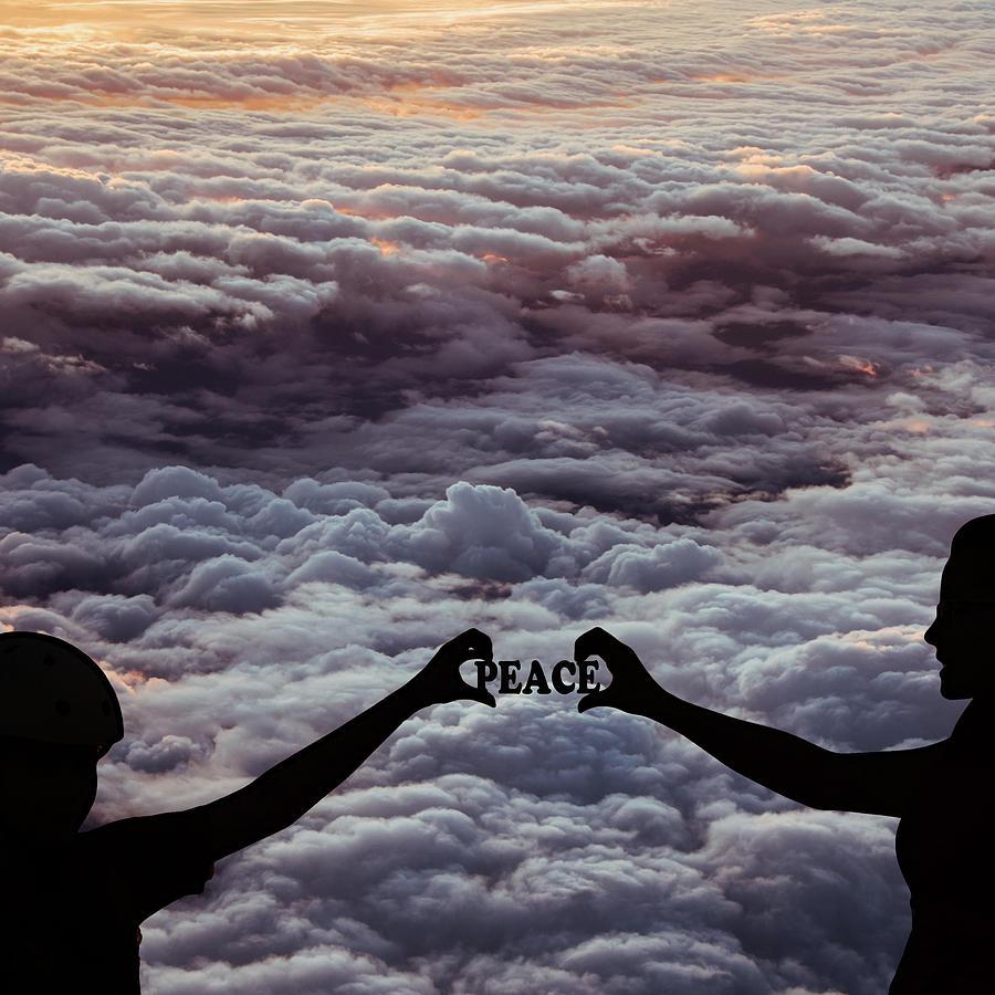 Clouds Photograph - Peace - Digital Art by Ericamaxine Price