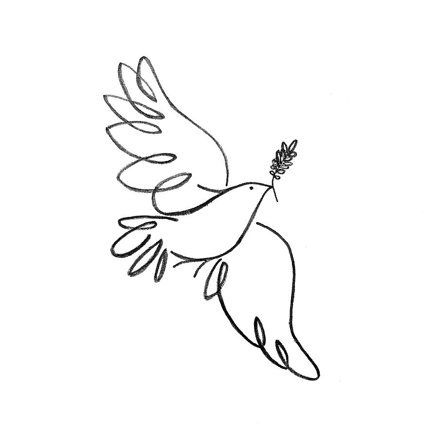Peace Dove Drawing by Jenni Robison