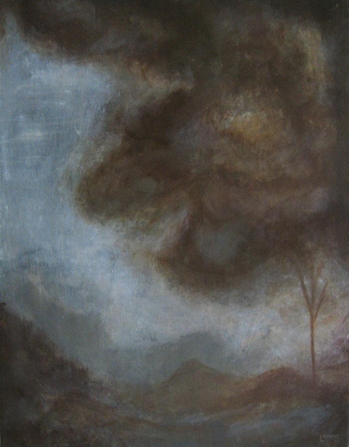 Brown Painting - Peace by Ellen Lewis