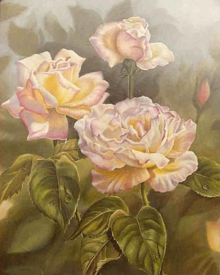 Flowers Painting - Peace I by Naomi Dixon