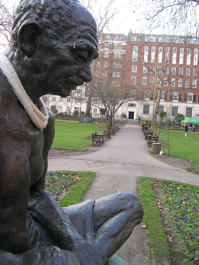 Gandhi Photograph - Peace In Tavistock Square by Jonathan Kotinek