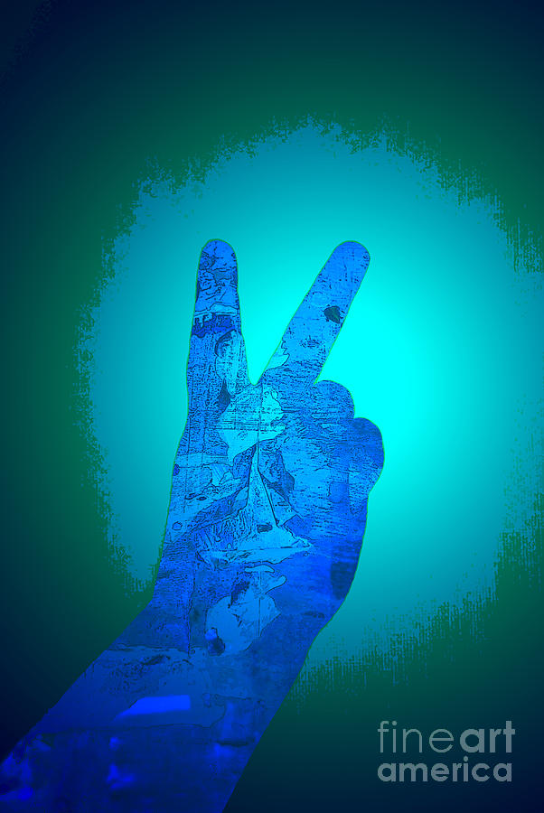 Hand Digital Art - Peace In The Headlight by Sean-Michael Gettys