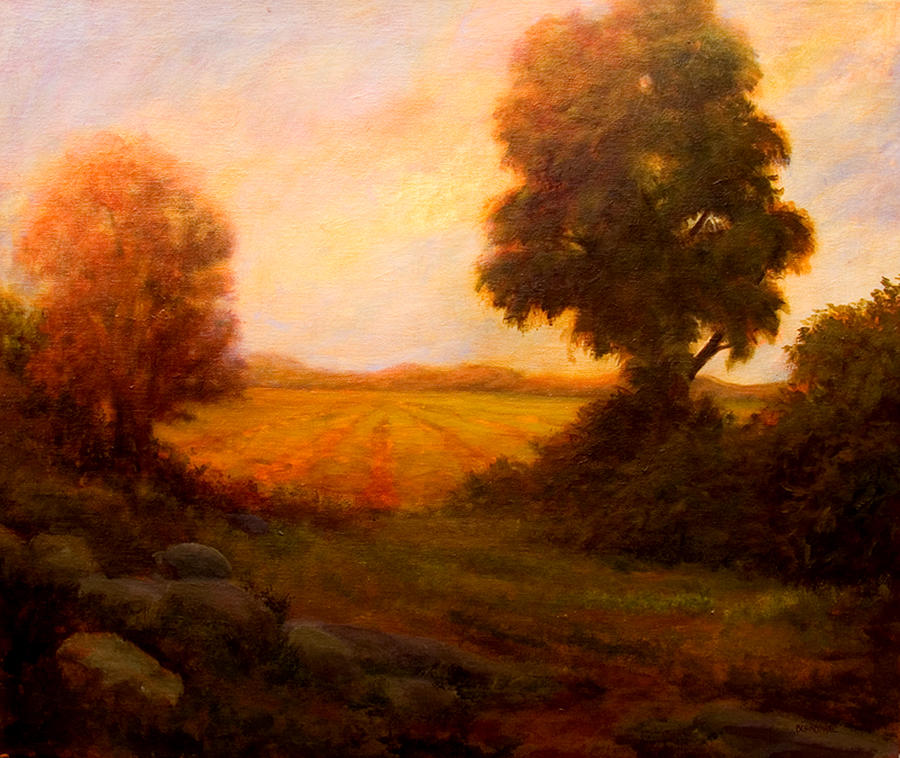 Landscape Painting - Peace In The Valley by Jan Blencowe