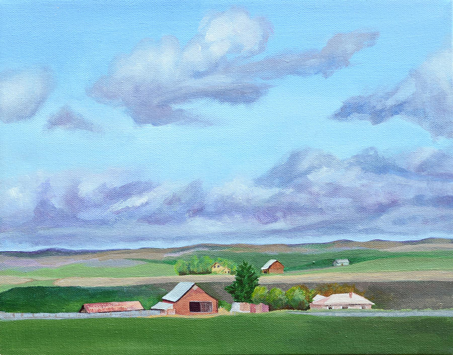 Landscape Painting - Peace In The Valley by Mary Chant