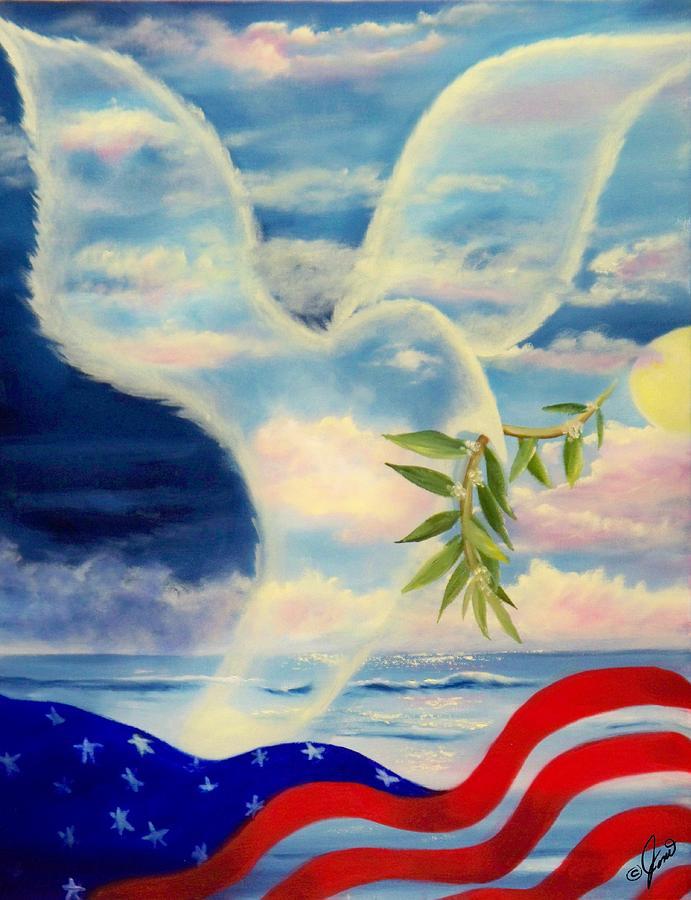 Dove Painting - Peace by Joni McPherson
