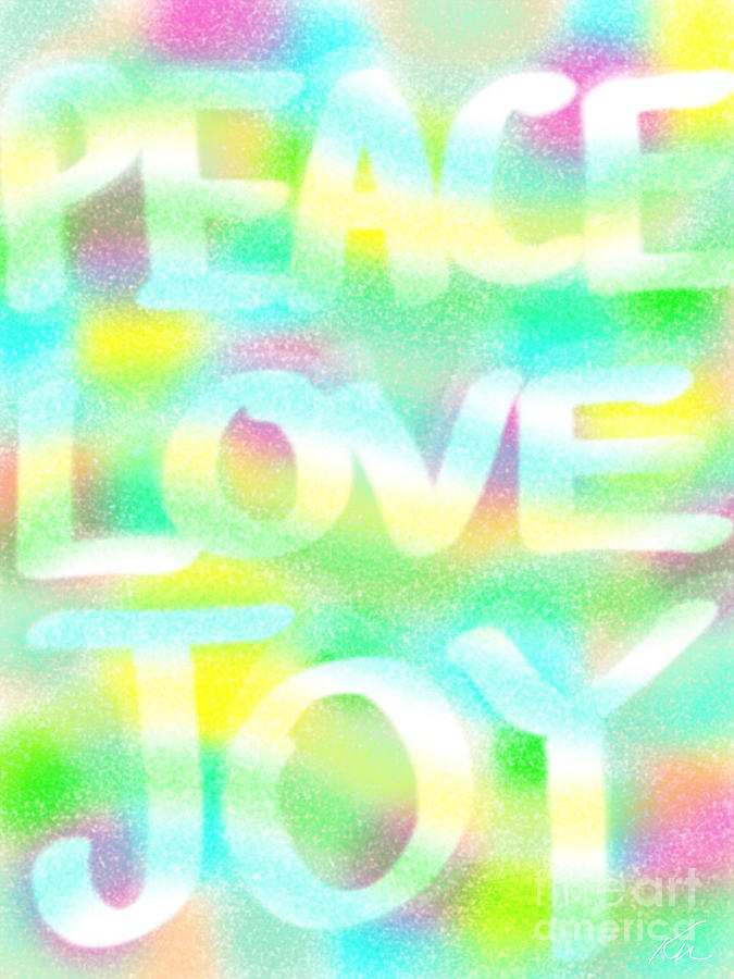 Peace Love Joy by Frances Ku