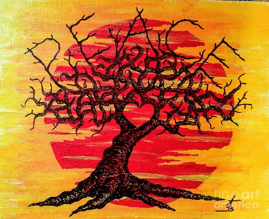 Peace Love Tree by Aaron Bombalicki