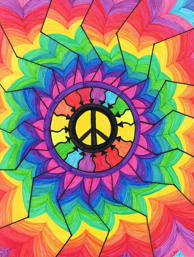 Peace Painting - Peace Mandala by Cheryl Fox