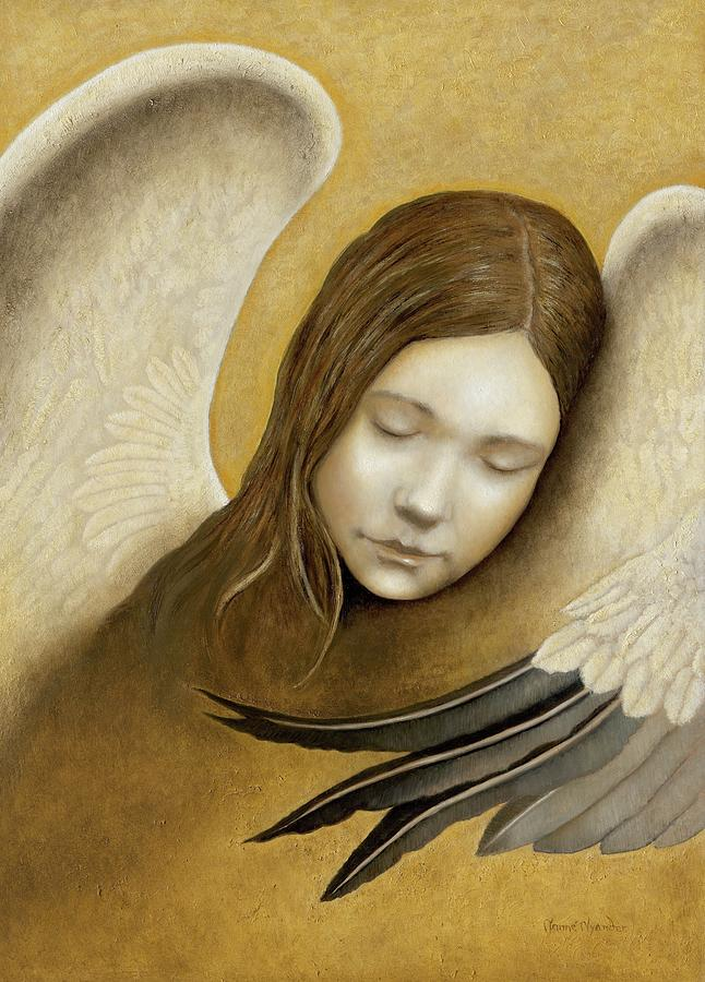 Angels Painting - Peace by Nanne Nyander