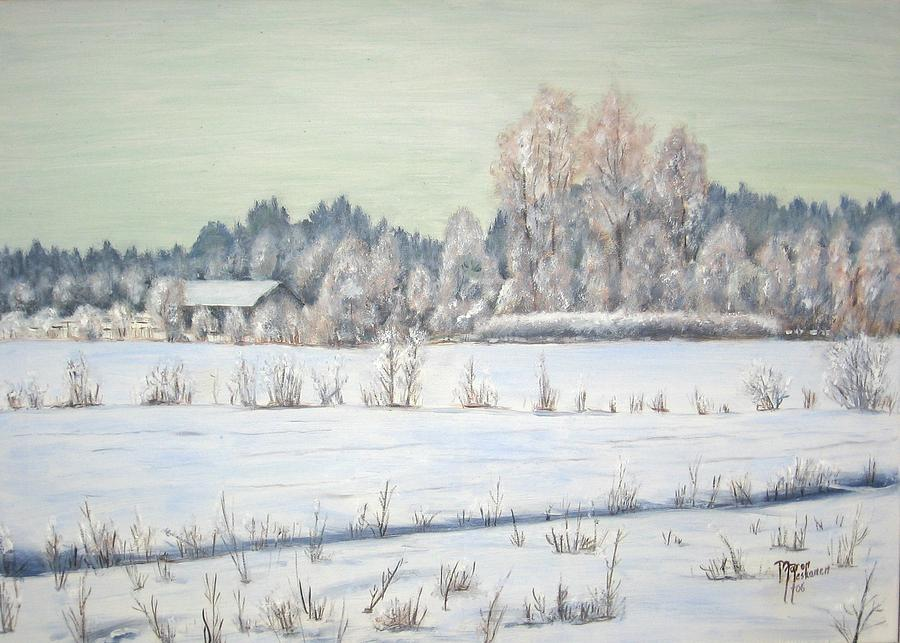 Winter Painting - Peace Of The Winter by Maren Jeskanen