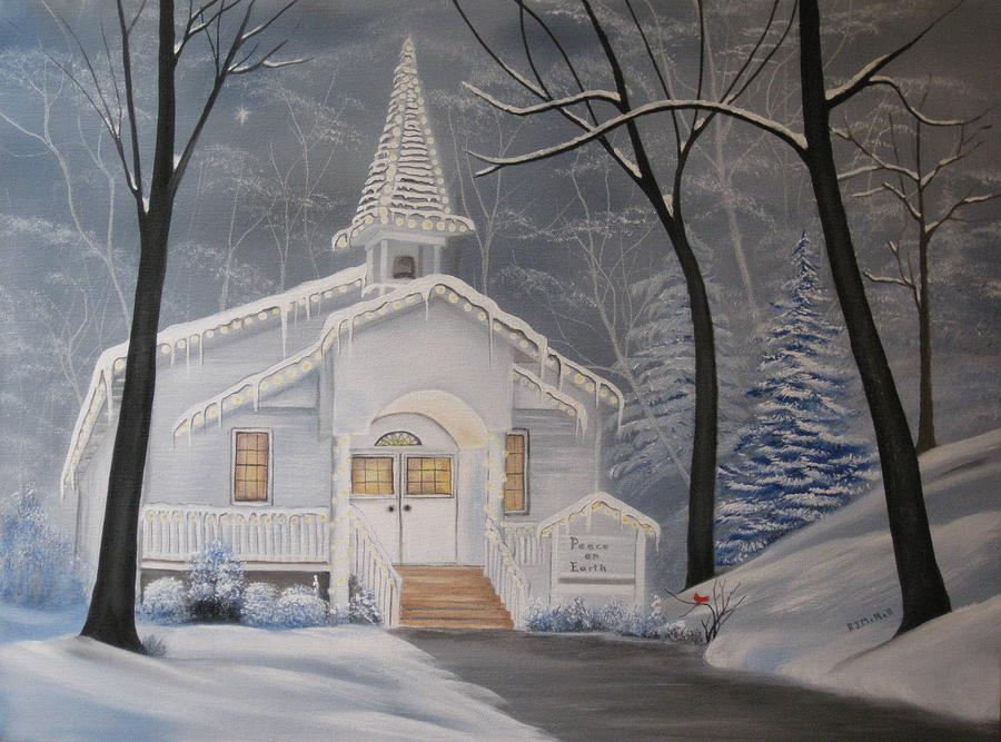 Religious Painting - Peace On Earth by RJ McNall