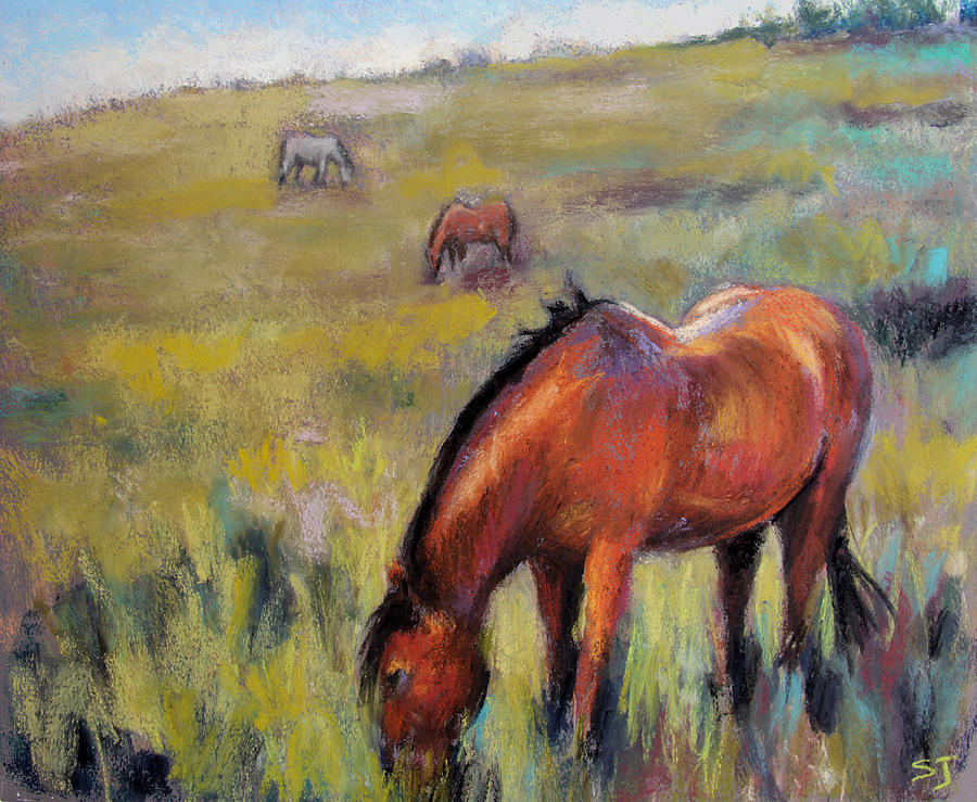 Equine Pastel - Peace on the Mountain by Susan Jenkins