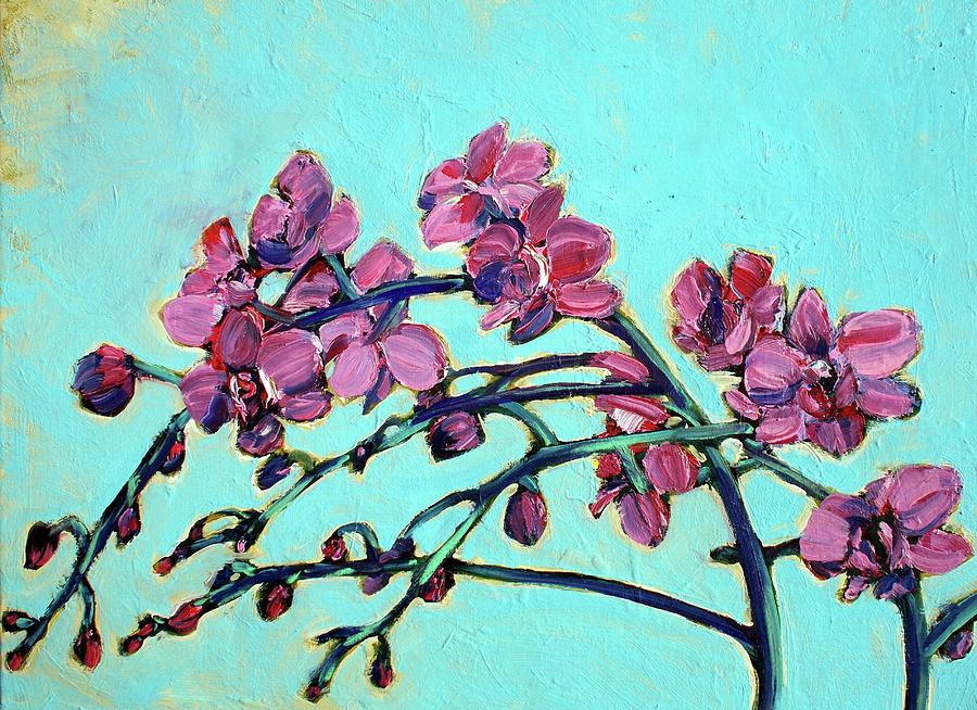Orchids Painting - Peace Orchids by Sheila Tajima