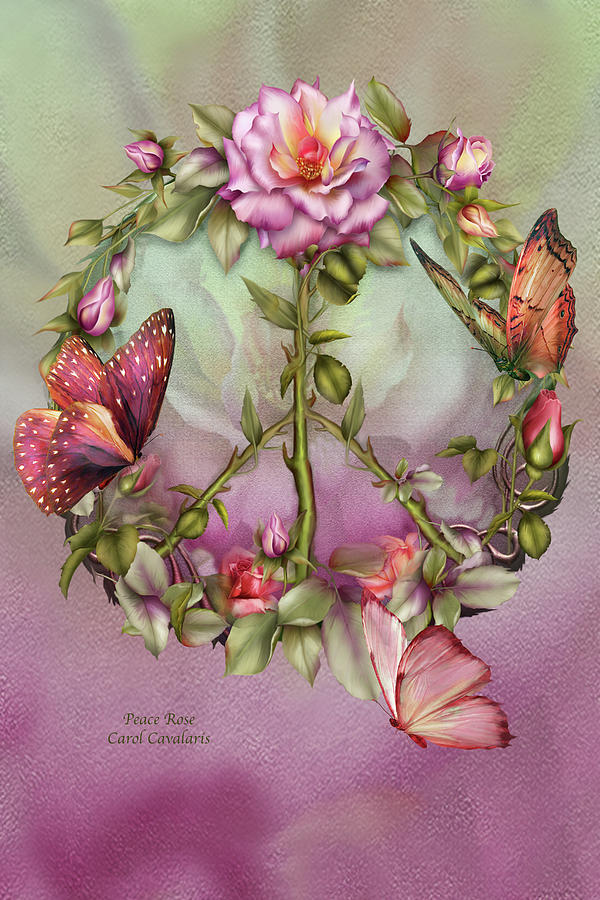 Peace Rose Carol Cavalaris on Prose Metal Wall Art