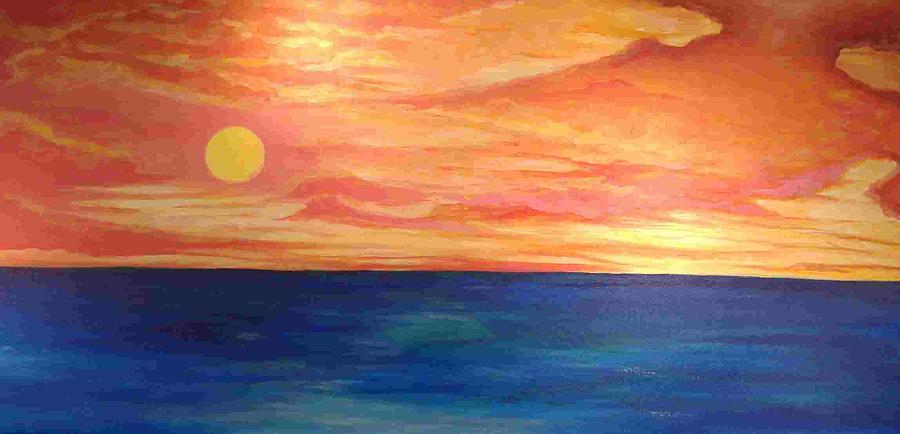 Seascape Painting - Peace With God by David Truesdell