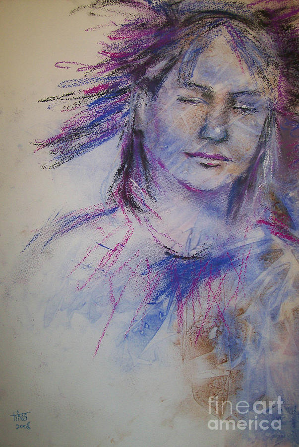 Portrait Painting - Peace Within by Tina Siddiqui