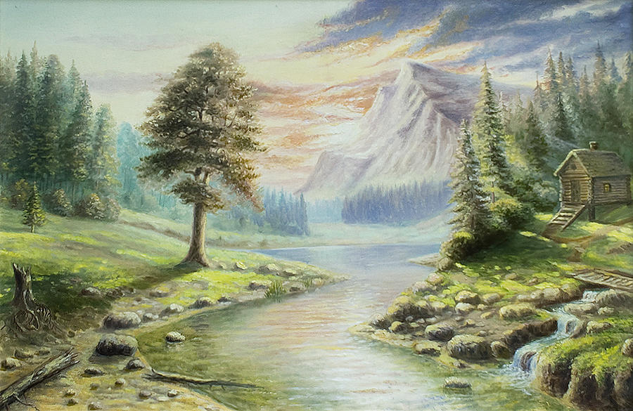 Landscape Painting - Peaceful Beauty by Vladimir Bibikov