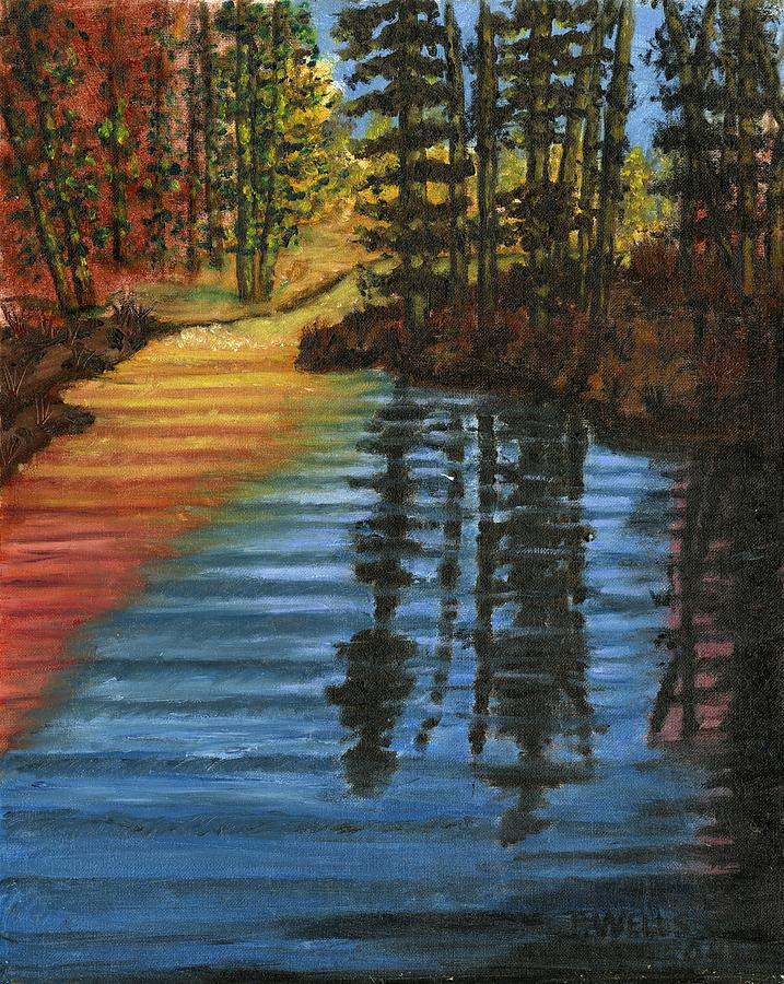 Peaceful Brook Painting by Tanna Lee M Wells
